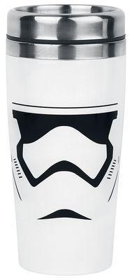 - Star Wars Episode 7 - isolatiebeker - afbeelding: Stormtrooper - First Order - inhoud: ca. 0,47 l - materiaal: roestvrij staal & plastic  Het maakt niet uit waar je naartoe probeert te vluchten, uiteindelijk weten de Stormtroopers van The Empire en de First Order je overal in het universum te vinden! Deze mok van Star Wars zal je koffie, thee of chocolade melk lekker warm houden, zelfs in de allerkoudste hoeken van het heelal.