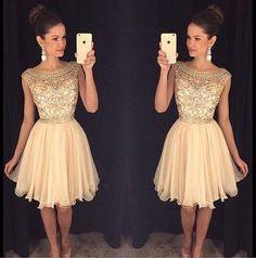 Homecoming Dresses,Rhinestone Homecoming Dresses,Real Made Homecoming Dress,Chiffon Homecoming