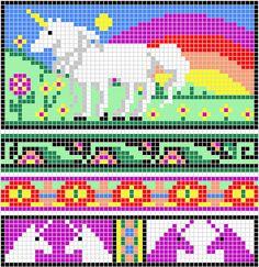 Some More unicorn Charts pattern by Melanie Nordberg