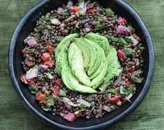 This Beluga Lentil Salad with Avocado  was stitched together with what I had at home and in the fridge.  I had cooked way too much  beluga l...
