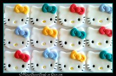 Kitty Fondant Cupcake Toppers