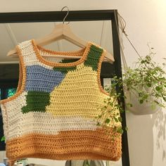 Crochet Crop Top, Cute Crochet, Knit Crochet, Crochet Shirt, Crochet Tops, Crotchet, Diy Crochet Projects, Crochet Crafts, Crochet Clothes For Women