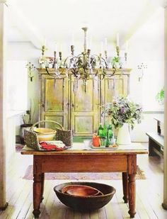 French Country Kitchen, almost in watercolor...
