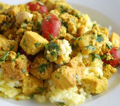 Coconut Curry Tofu over Jasmine Rice