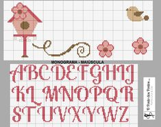 Cross Stitch Alphabet, Cross Stitch Patterns, Needlepoint, Bullet Journal, Projects, Unisex, Cross Stitch Letters, Mini Cross Stitch, Embroidery Stitches