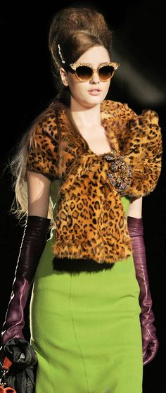 wow - chartreuse AND leopard !