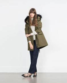 FLEECE LINED PARKA-Coats-WOMAN | ZARA United States