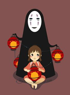 Chihiro and No Face