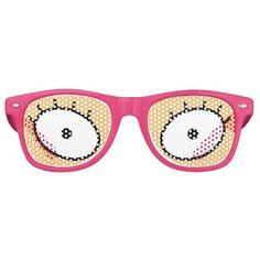Women's Cartoon Eyelashes Sunglasses (Pink)