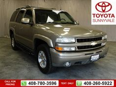 2003 Chevrolet Chevy Tahoe K1500 Z71  142k miles $9,000 142565 miles 408-780-3596 Transmission: Automatic  #Chevrolet #Tahoe #used #cars #ToyotaSunnyvale #Sunnyvale #CA #tapcars