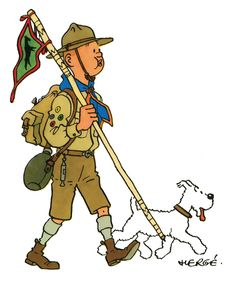 The Scouting Life Boy Scouts, Tintin Au Tibet, Herge Tintin, Fictional Heroes, Scout Uniform, Funny Pumpkins, Scout Activities, Bd Comics, Scout Leader