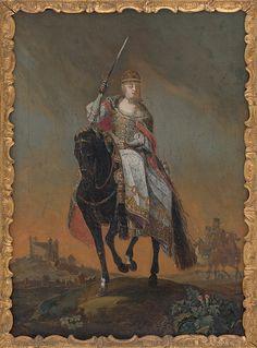 C. Hirsch ml. - Mária Terézia na korunovačnom pahorku