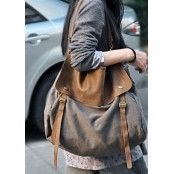 #7 MAIL™ vintage Canvas leather shoulder bag