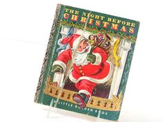 This vintage book, The Night Before Christmas, is a Little Golden Book by Clement C. Moore, illustrated by Corinne Malvern