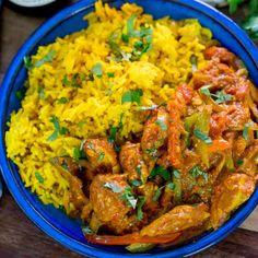 Chicken Jalfrezi with Homemade Pilau Rice via @kitchensanc2ary