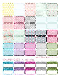 @planner.PICKETT: Free Pretty Half Boxes Sticker Printables