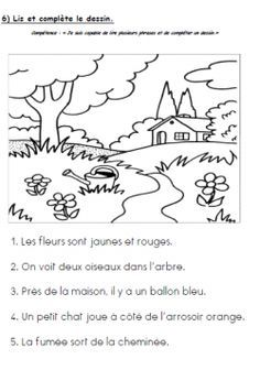 Easy and fun comprehension activity French Teacher, Teaching French, Teaching Activities, Language Activities, Grade 1 Reading, French Worksheets, French Colors, French Kids, Core French