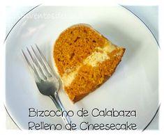 Los Inventos de Lisa: Bizcocho de Calabaza Relleno de Cheesecake