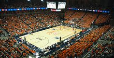 John Paul Jones Arena at capacity for a UVa basketball game! Charlottesville, VA