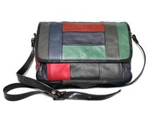 SALE Vintage Leather Shoulder Bag Patchwork by ChickClassique, $36.00