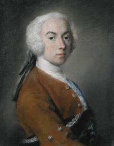 ROSALBA CARRIERA  VENICE 1675 - 1757  PORTRAIT OF A GENTLEMAN, HALF LENGTH, HIS HAT BENEATH HIS ARM