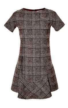Prince Of Wales Wool-Blend Shift Dress by Carven Now Available on Moda Operandi