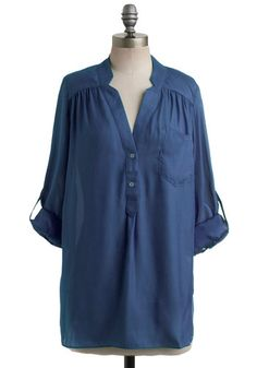 Pam Breeze-ly Tunic in Navy, #ModCloth
