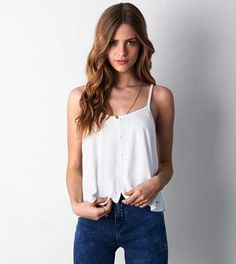 Shop Women's Tank Tops from American Eagle today! Our Tank Tops come in tons of styles, colors and fabrications including cropped, flowy, lace trim & more. Classy Outfits, Cute Outfits, Pink Outfits, American Eagle Outfits, Cropped Cami, Mens Outfitters, Urban Outfitters, American Eagle Outfitters Tops, Girls