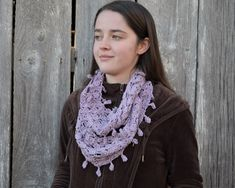 Crocheted cowl scarf, light purple cowl, lacy crochet cowl, elegant infinity scarf #crochet #crocheted #cowl #scarf #cowls #cowlscarf #scarves #purple #crochetscarf #crochetcowl #crochetscarves #crochetedcowl #crochetedscarf #fashion #womensclothing #womensfashion #womensoutfits #womensscarves #scarfforwomen #shopsmall #shopsmallsaturday #smallbusiness #smallbusinessowner #shoponline #onlineshopping #etsy #shoponetsy #etsyshop #etsyseller #etsyfinds #etsygifts Hand Crochet, Scarf Crochet, Cowl Scarf, Pretty Lights, Simple Outfits, Light Purple, Wool Blend, How To Make, How To Wear