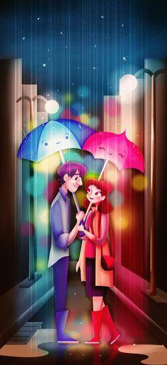 Blue Umbrella/Paperman