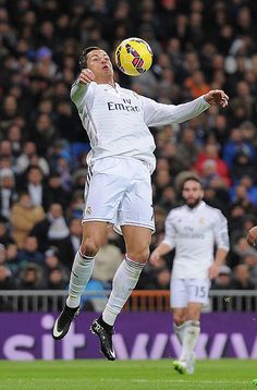 Cristiano Ronaldo of Real Madrid controls the ball during the La Liga match between Real Madrid CF and Celta Vigo at Estadio Santiago Bernabeu on December 6, 2014 in Madrid, Spain.