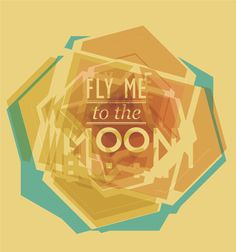 Fly me to the moon. by Morgans Robot, via Behance