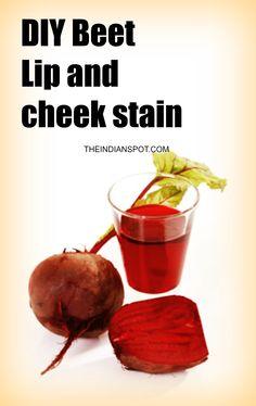 4 DIY natural lip and cheek stain