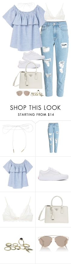 """""""Sem título #5134"""" by fashionnfacts ❤ liked on Polyvore featuring Lilou, H&M, MANGO, Vans, Anine Bing, Prada and Christian Dior"""