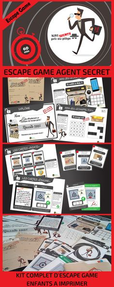 Escape sport equipment for youths to print with regards to secret brokers and espionage. Efficiently escape from room n ° 212 in lower than 60 minutes flat! Escape Room For Kids, Game Themes, Puzzle Box, Mission Impossible, Diy Games, Kits For Kids, Kids Prints, Online Games, Animation