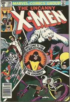 Marvel Drawing Uncanny X-men 139 comic, Kitty Pryde joins book. 1980 Marvel Comics, NM- - This is a high grade original comic, not a reprint! A gift quality key investment grade book. X-MEN Marvel Comics, Hq Marvel, Marvel Comic Books, Comic Books Art, Book Art, Comic Superheroes, Marvel Characters, Kitty Pryde, Marvel Girls