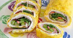 Sarahs Krisenherd: [After Work Meal] Low Carb Rolle gefüllt mit grünem Spargel, Erdbeeren und Kochschinken