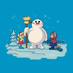 4833f360b Shop Let's Build a Snowman karen hallion t-shirts designed by KHallion as  well as other karen hallion merchandise at TeePublic.