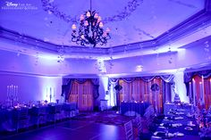 Breathtaking Uplighting And Whimsical Decor At The Whitehall Room Disneys Grand Floridian Resort Disney Wedding VenueDisney