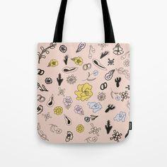 Tote bag by Swingandbloom https://society6.com/product/fridas-flowers1188399_bag?curator=swingandbloom