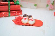 Orecchini Fimo Biscotto Pupazzo di neve-Buon Natale