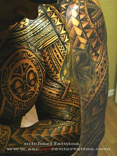 chest and full sleeve by samoan mike sacred center tattoo. Black Bedroom Furniture Sets. Home Design Ideas