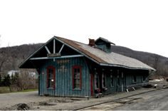 """Old Train Station in Cohcoton, New York 