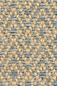 Dune sisal rug in Blue colorway, by Merida.