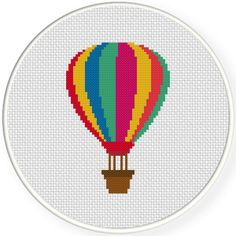 Charts Club Members Only: Air Balloon Cross Stitch Pattern