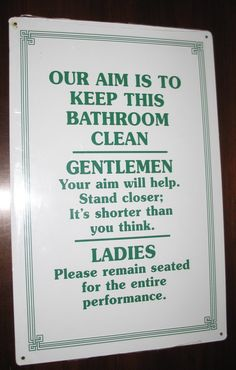 I wish the boys here knew how to aim . . . Oh the misery of sharing the bathroom with 3 boys :(