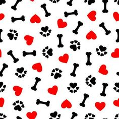 Illustration about Lovely cute seamless pattern with dog bone, paw print and red heart, transparent background. Illustration of paper, fabric, lovely - 86554072 Handy Wallpaper, Lit Wallpaper, Cute Wallpaper For Phone, Wallpaper Iphone Disney, Cute Wallpaper Backgrounds, Cute Cartoon Wallpapers, Pattern Wallpaper, Paw Print Background, Printable Scrapbook Paper