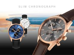 Slim Chronograph with multi functions; Classic Collection; BERING watches