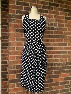Polka Dot Rockabilly Dress by SallyMarieVintage on Etsy