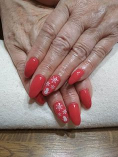 red gel, white snowman and flake